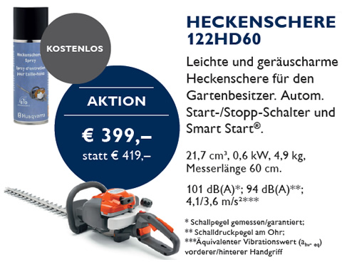Heckenschere Husqvarna 122HD60