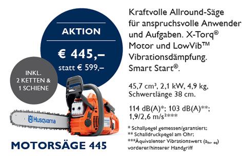 Husqvarna Motorsäge 445